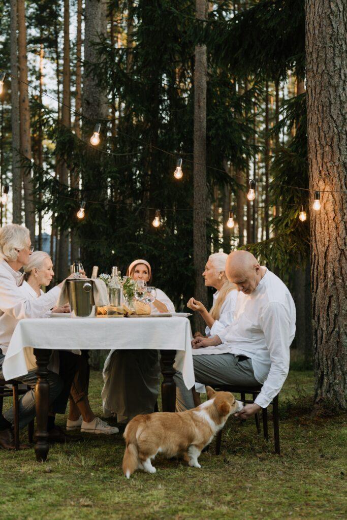 Les restes de table jouent sur la balance et contribuent à l'embonpoint du chien du chien